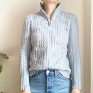 Woolmark Blue 100% Lambswool Cable Sweater M